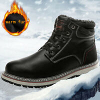 Men's Snow Casual Boots Winter Hiking Shoes Warm Fur Waterproof Outdoor Sneakers