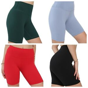 Ladies Womens Biker Shorts Cycle Sports Leggings Active Casual Lounge Spandex