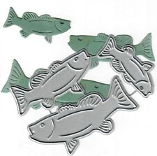 Dies...to die for metal cutting craft die -  Fish Bass lake life collection