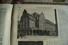 1909 Zentralblatt 95 Hamburg Ohlsdorf Feuerwehr Landherrenschaft Usambarabahn