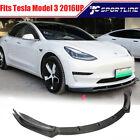 Fits Tesla Model 3 Sedan 2016-21 Front Bumper Lip Spoiler Splitter Carbon Fiber