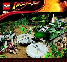 LEGO INDIANA JONES 'JUNGLE CUTTER' #7626 ALL 4 FIGURES 100% COMPLETE GUARANTEE