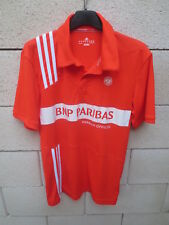 Polo tennis ADIDAS ROLAND GARROS Paris orange shirt Climalite collection S