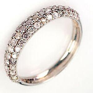0.60Ct VS-I Argyle Mine Tint Pink Natural Diamond 925 Silver Ring nxs003