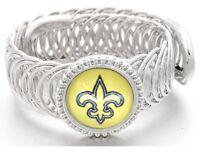 New Orleans Saints Football Sterling Silver Mens Womens Bracelet + GiftPkg D11