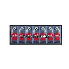 Personalised England Changing Room Euros Football Bar Runner Cocktail Party Mat