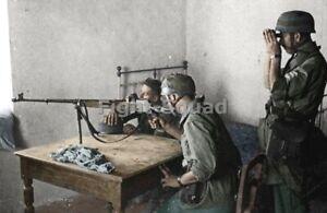 WW2 Picture Photo German Fallschirmjäger paratroopers w anti-tank rifle 4064
