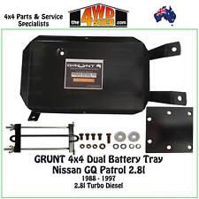 Grunt 4x4  Dual Battery Tray fit Nissan GQ Y60 Patrol 2.8l Diesel 1988 - 1997