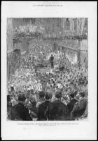 1881 Antique Print - AUSTRIA VIENNA Marriage Ceremony Palace Augustines    (284)