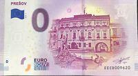 BILLET 0 EURO  PRESOV SLOVAQUIE   2019-1 NUMERO DIVERS