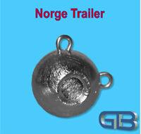 Norge Trailer 110g, 140g, 170g, Kugelblei mit Öse Jigkopf Rundkopf Grundblei.