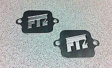 FTZ Yamaha R6 & Honda 600rr Valve cover Smog block off plates,engine, motor