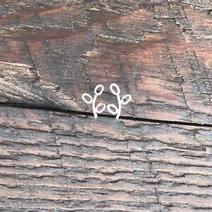 Sterling Silver 'Branch' Design Stud Earrings