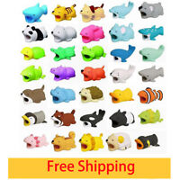 Cute Cartoon Animal Cable Bite USB Charger Cable Protector for Mobile Phones Lot
