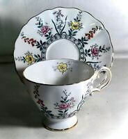Grosvenor Bone China Floral Cup And Saucer