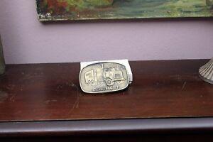 Original 1980s Gearhart Company Bronze/Brass Metal Belt Buckle Well Drilling