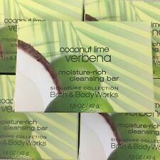 Lot of 5 Bath & Body Works Coconut Lime Verbena Rich Cleansing Bar Soap 1.5 oz.