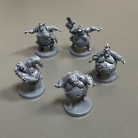 5PCS Fattie Daily Zombies Miniatures For Zombicide 2nd Edition Board Game Figure