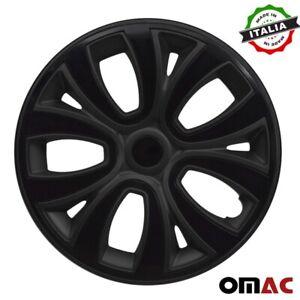"""Hubcaps 14"""" Inch Wheel Rim Cover For Honda Matt  Black Insert 4pcs Set"""