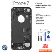 NEW iPhone 7 Complete Fully Assembled Back Cover Housing with ALL Parts - BLACK