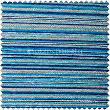 Suave Con Textura Diseño A Rayas Tapicería Cojines Cortinas Azul/blanco Tejido