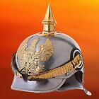 Militaria Pickelhaube Spiked Armor Helmet German Steel Prussian Without Stand