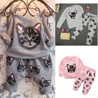 Kids Baby Girls Toddler 2PCS Set OutfitsT-shirt Tops Pants Clothes Set Warmer
