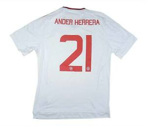 Manchester United 2015-16 Authentic Away Shirt Herrera #21 L Soccer Jersey