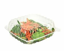 SafePro 8x8x3 Clear Hinged Lid Plastic Container, Clamshell, CASE OF 100