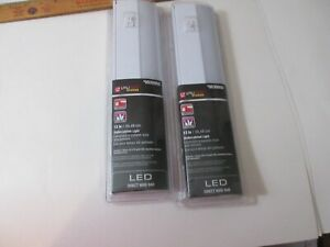 "New Utilitech Pro 12"" Direct Wire Under Cabinet LED Light Bar x2 #0039950 NIP"