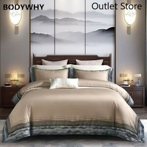 1000TC Luxury Egyptian Cotton Embroidery Bedding Set  Bed Sheet Cover Set