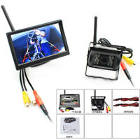5 Inch Wireless Parking Kit Combo Monitor Reverse Backup Camera 4 Car Truck Bus