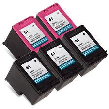 5 Pack HP 61 Ink Cartridge CH561WN CH562WN OfficeJet 2620 4630 4632 4635 Printer