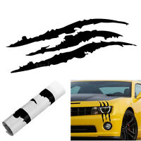 Black Scratch Stripe Headlight Truck Decal Stickers Car Accessories Universal