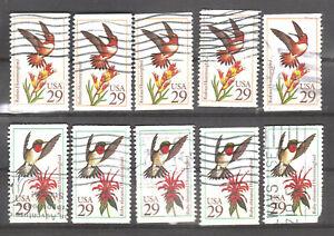 Scott 2642 & 2645...29Cent Hummingbirds ...Lot of 10   1992
