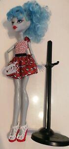 Monster High Dot Dead Gorgeous Ghoulia Yelps Doll With Stand