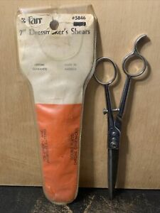 Farr 7 Inch -Dress Makers Shears Scissors- Used. Made in USA. Chrome Over Nickel