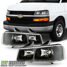 2003-2019 Chevy Express Gmc Savana Van Headlights Headlamps Replacement 03-19 (Fits: Gmc)
