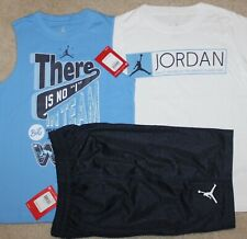 New! Boys Nike Air Jordan 3 pc Lot/Outfit (2 Shirts, Shorts; Jumpman) - Small 8