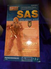 """Elite Force SAS Who Dares Wins""""Clark"""" 1/6 Action Figure Blue Box Toys 1999MINT*"""