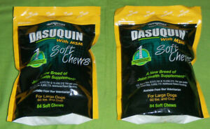 Dasuquin with msm joint health supplement LARGE dogs 84 soft chews LOT 2