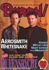 Burrn! Heavy Metal Magazinee April 1997 Japan Queensryche Angra Aerosmith