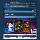 PLATINUM 2021-WAVE 3-GREEN+BLUE BASE SET-54 CARDS-TOPPS STAR WARS CARD TRADER