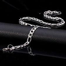 cadena plata de acero inoxidable titanio para los hombres de moda  de lujo