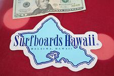 Vintage Surfing Sticker SURFBOARDS HAWAII Dick Brewer BLUE ISLAND  5x7in. Decal