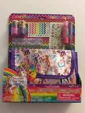 NIB The Lisa Frank Do It Yourself Fashion Cosmetic Clutch Bag Set Unicorn HTF