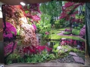 """Photography Backdrop Beautiful Outdoor Garden  Extra Large 136""""W x 118""""H"""