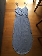 CUTE LADIES SPORTSGIRL STRIPED LONG DRESS SIZE XS TIE UP STRAPS