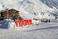 A1 | Tignes Ski Resort France Poster Art Print 60 x 90cm 180gsm - Gift #12353