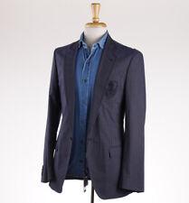NWT $1495 DOLCE & GABBANA Crest Detailed Navy Cotton Blazer 36 R Sport Coat